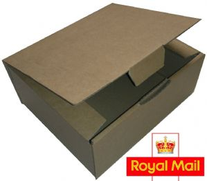 Royal Mail Small Parcel 250x250x100mm Postage Box 25 Pack - High Quality Die Cut